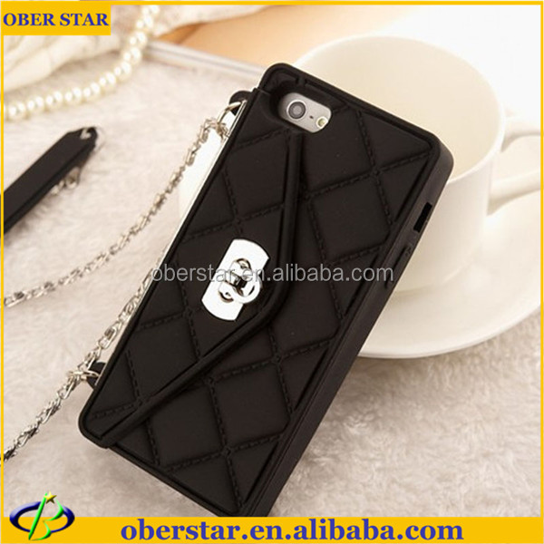 Wholesale Sex Girl Handbags Mobile Phone Silicone Cases for iPhone 5 Cover With Free Screen Guard