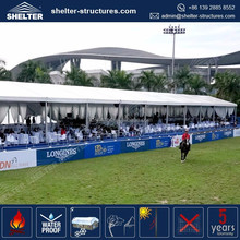 Compatible Uniflex series deck tents used as sport shelters