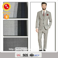 PFL-4 In Stock 100% Wool Uniforms Fabrics With Merino Wool Yarn Dyed Wool Suit Fabric