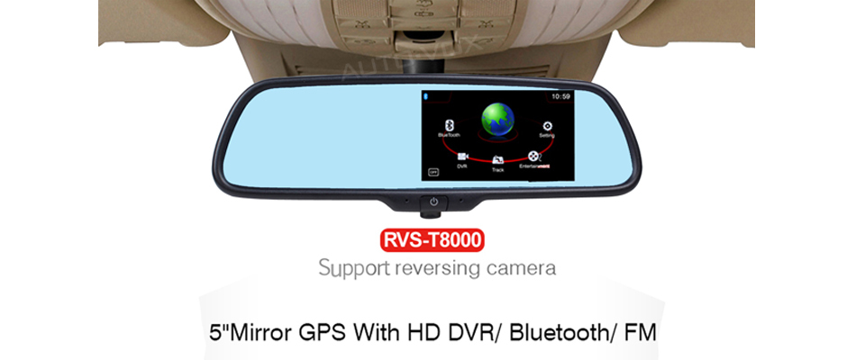 Full HD 1080P Car Rear View Mirror DVR GPS Navigation Bluetooth Car Rearview Backup View Mirror