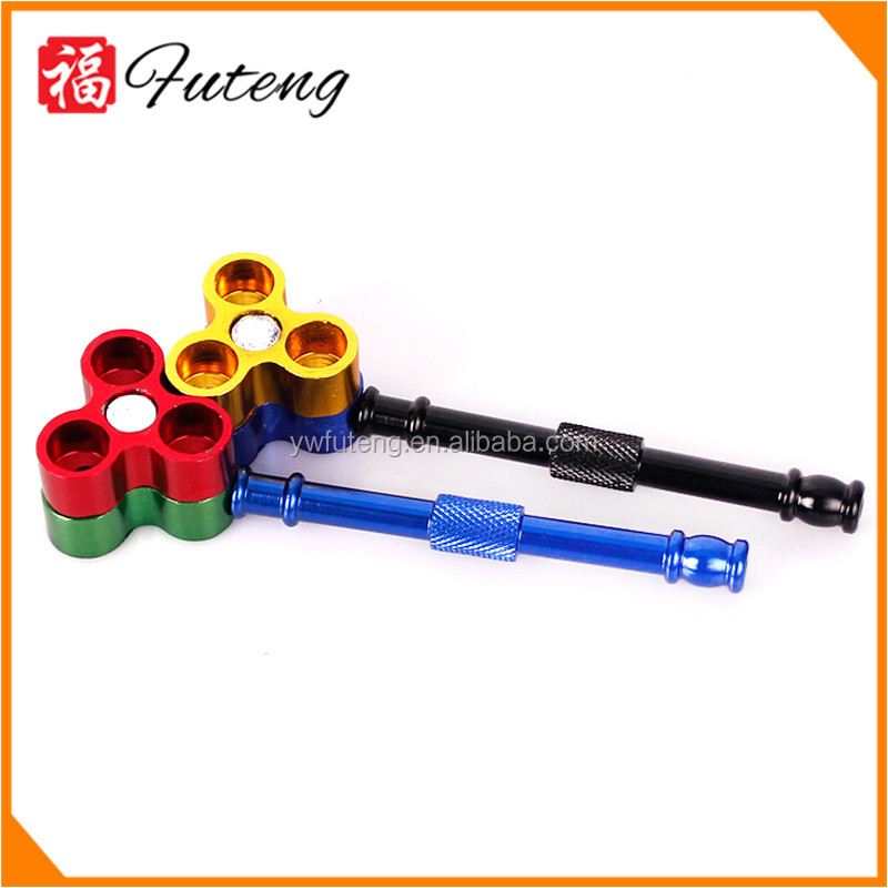 FT-6034 YiWu FuTeng Decorative Unique Free smoking Pipes Chillum Protable Bullet Metal Smoking Pipes