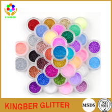 various glitter powder with various size beautiful boxs for decorations