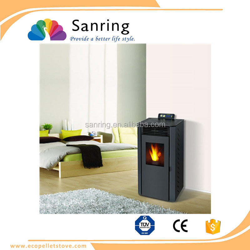 Cast Iron 9 KW biomass wood pellet stove for garage heating