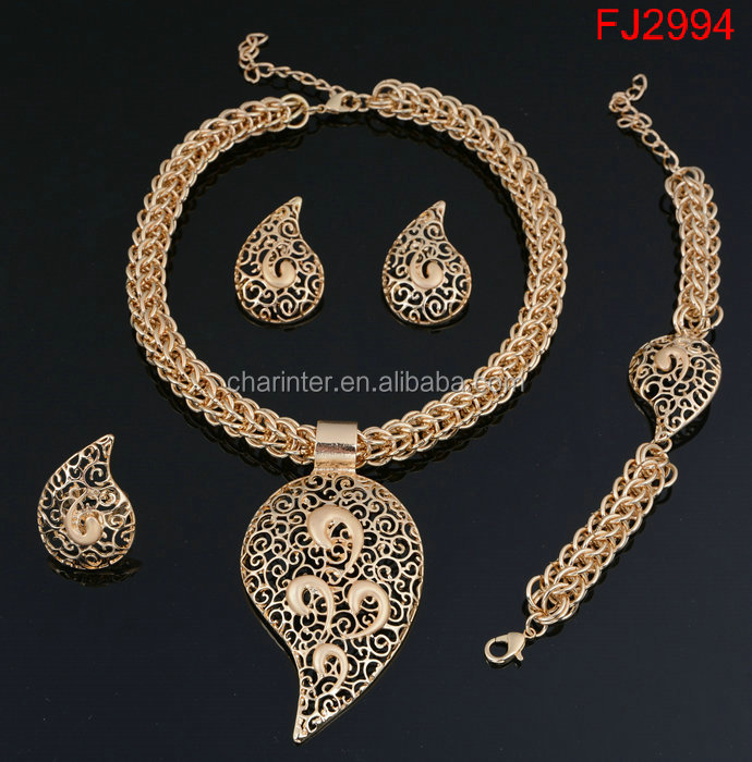 free shipping 18K Gold plated Dubai Gold Jewelry <strong>Set</strong> Wedding Fashion Women Necklace And Earring <strong>Set</strong> 4 Pieces