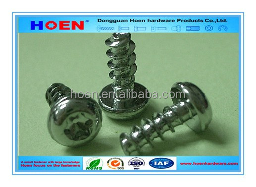 Pan head torx drive Thread Forming Screw for Plastics PT screw