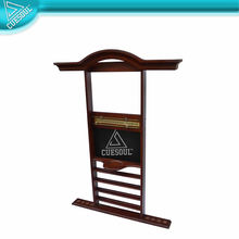 8 Snooker Billiard Stick & Ball Set Wall Rack Holder