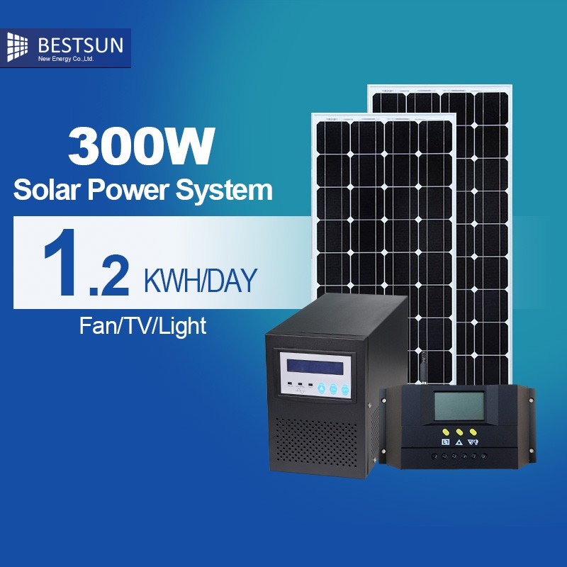 BEST SUN 300 Watt Off-grid Silicon Solar Power Generator System In Dubai