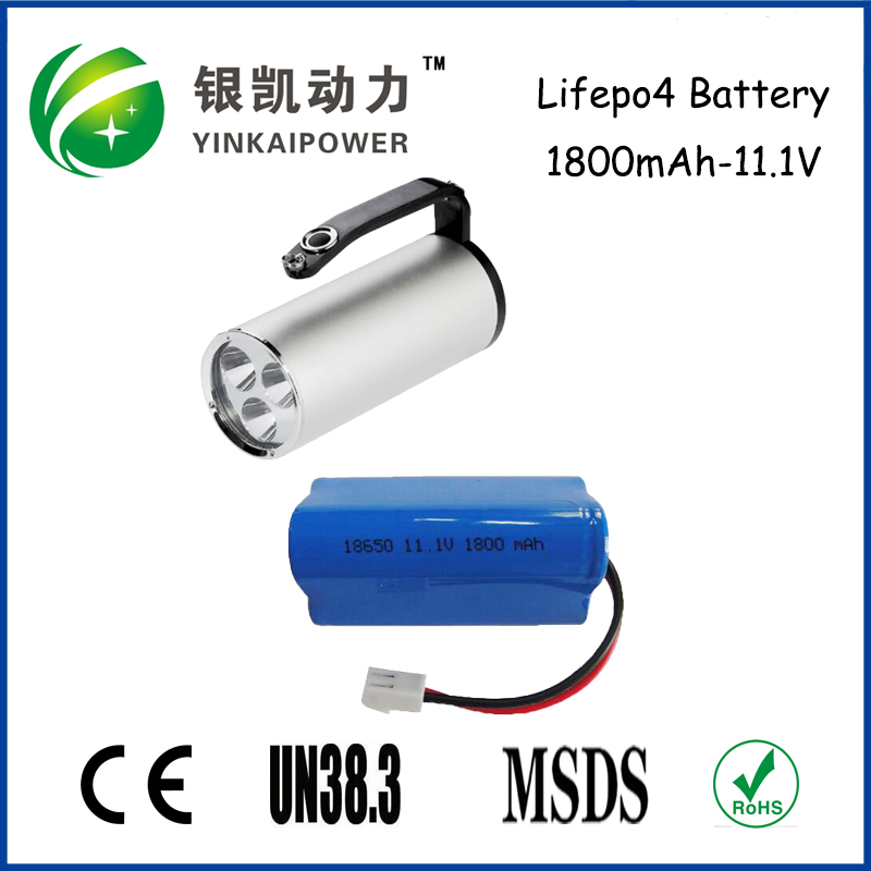 Emergency Lamp Rechargeable Li-ion Battery Pack 11.1V 1800mAh 18650 Lithium Battery with OEM/ODM Service