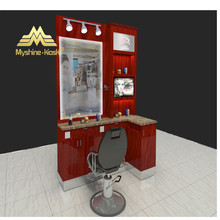 kiosk for barber shop furniture with baber chairs