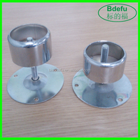 Chrome Finish Iron Adjustable Round Pipe Base/Pipe Fittings