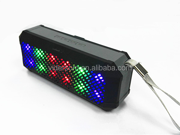 Mini bluetooth speaker with super sound quality and flash LED light