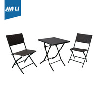 Good service factory directly rattan party tables and chairs