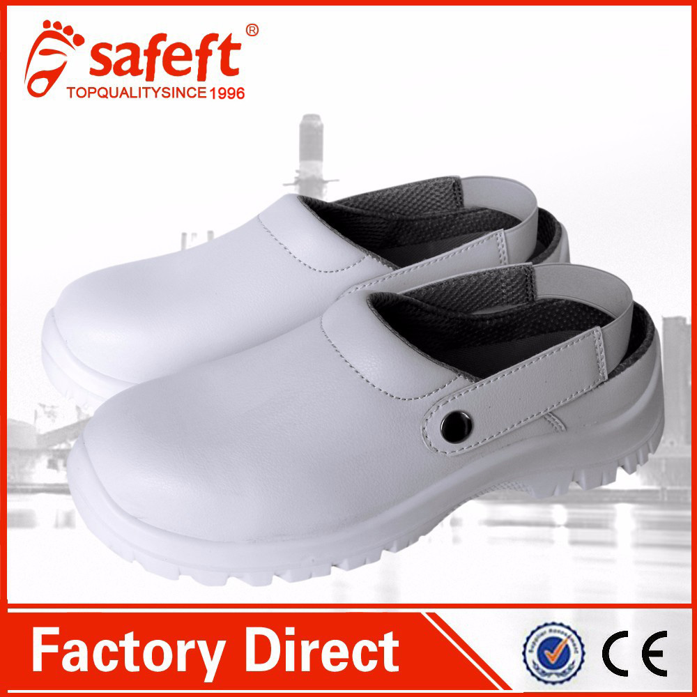 White high quality ladies safety shoes steel toe cap safety shoes
