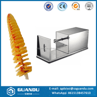 New designed potato tower making machine / electric sprial fry potato cutter
