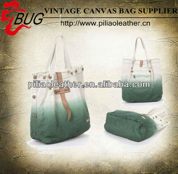 2014 New fashion canvas dip-dye coache handbags