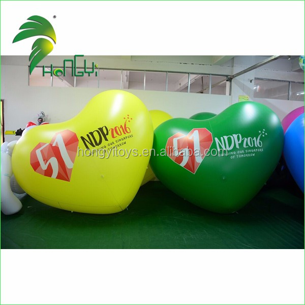 Inflatable Heart Shape Helium Balloon for Advertisement