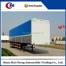 13-meters top-closed type strong box semi van truck trailers for dry cargo transportation