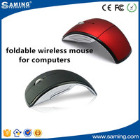 foldable rubber surface fancy wireless mouse for computers
