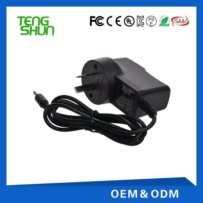 ce ul saa kc gs listed 110v 220v 9v 1a 1.2a 1.3a 1.5a ac adapter/power supply/adaptor