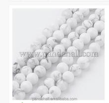 6mm White Round Natural Howlite Beads Strings Wholesale