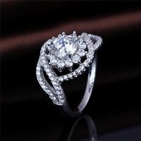 2017 New Model Fashion Micro Pave Ring Silver CZ Finger Rings Photos