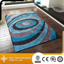 elias design for sale 100% polyester silk shaggy 3d area rugs