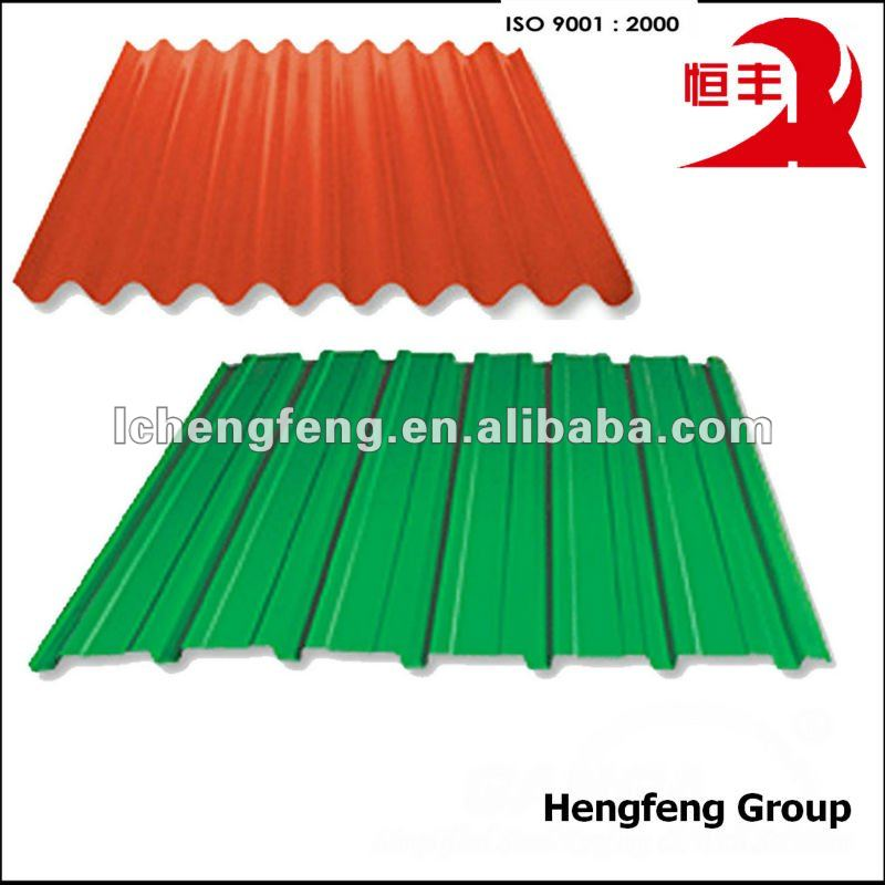 color coated corrugated steel roof of buildings materials