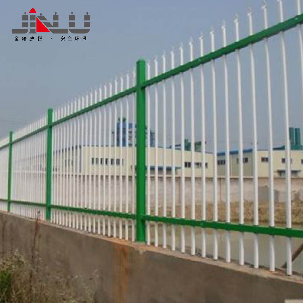 Outdoor cheap fence posts temporary solid metal iron grill fence design for veranda panels used for sale