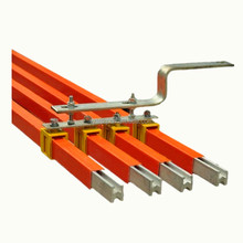 Safety power rails conductor bus bar for crane