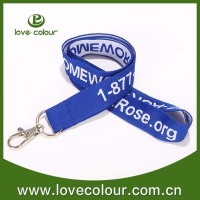 Cheap High Quality Woven Custom lanyards keychain