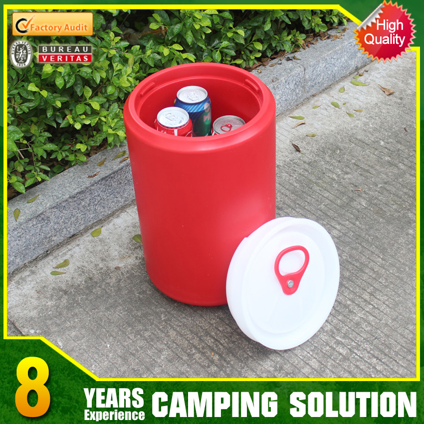 Plastic camping water container with tap