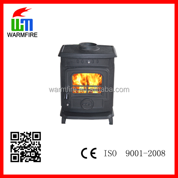 cast iron indoor fire stove with water boiler, factory directly supply WM701B