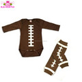 Children kids body suit Boy Sleep Night Sets Design Your Own one piece Bodysuits baby romper football bodysuit with leg warmer
