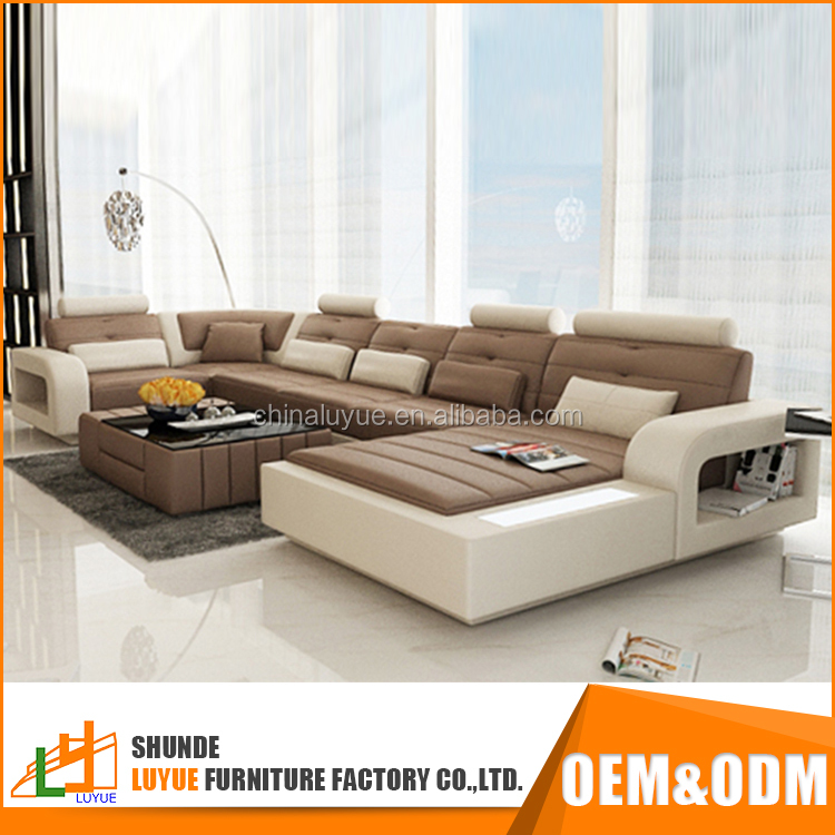 good quality l shape european style modern design vintage leather exotic sofa