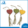 recycled paper mache / paper pulp hanging heart for autumn, christmas and garden ornament