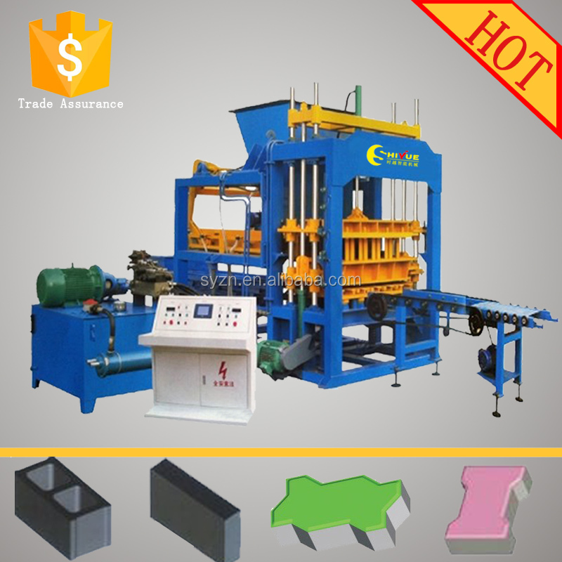 QT5-15 fully automatic paver block manufacturer ecological bricks machines for the manufacture of bricks