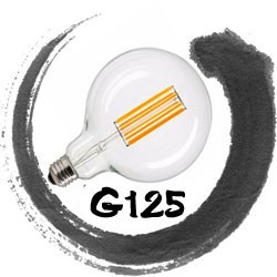 MANUFACTURER CUSTOMIZED LED Filament Bulb G125