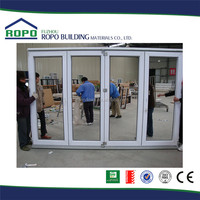 Latest designs Alibaba UPVC white frame insulated folding door