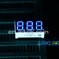 BLUE 7 Segment LED Display Common Cathode - 3-digit - Ships FAST from China!