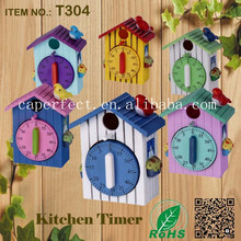 Made in China mechanical kitchen resin house shape timer