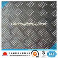 3003 aluminum checkered sheet for bus ,working plate and car antiskid