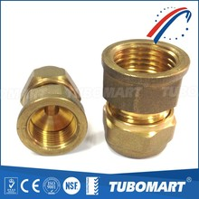 female brass union with O ring for brass connector for plumbing pipe