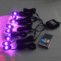 Bluetooth 8 pods contrllor RGB led rock light for truck ATV boat offroad