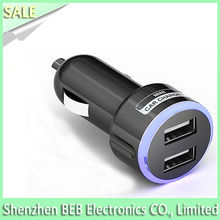 Blue light car charger for iPad for iPhone5 for iPhone5S for iPhone5C