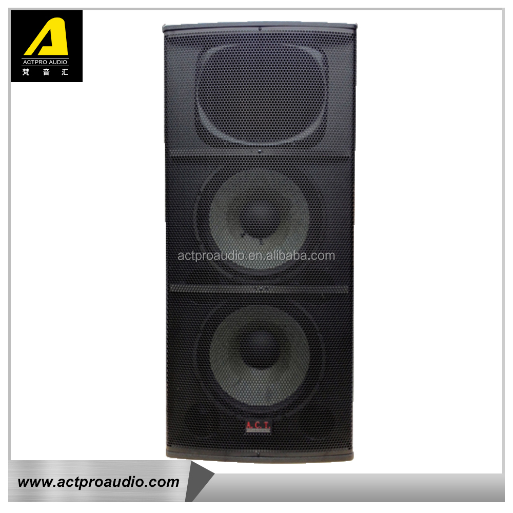 Double 15 inch professional stage performence outdoor speaker Actpro audio active full range frequency speaker