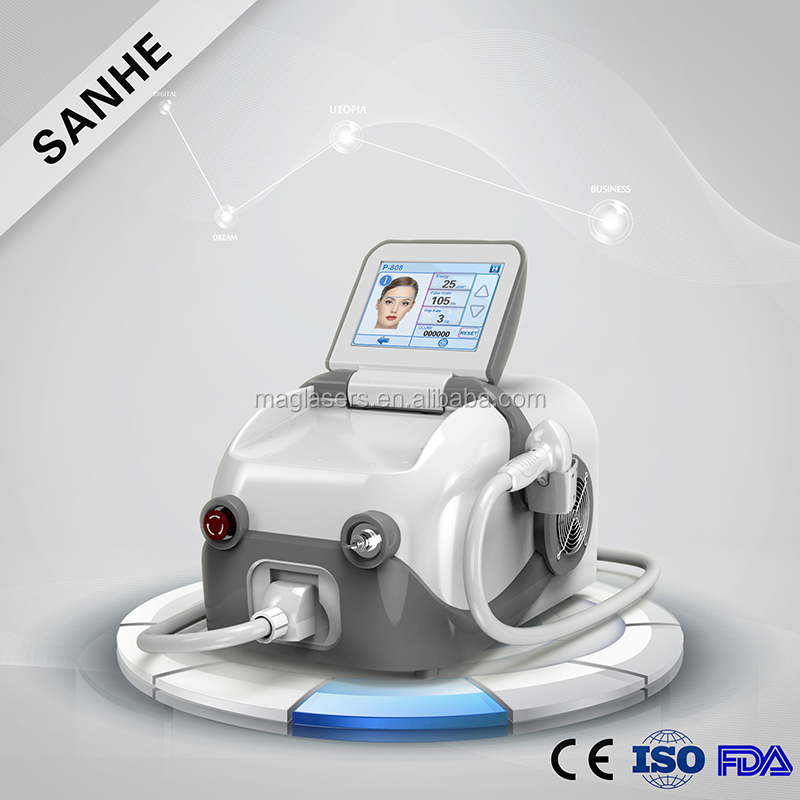 Cosmetic permanent hair remover 808nm diode laser beauty equipment with big spot size