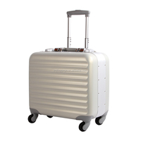 abs+pc aluminum frame luggage suitcase travel bag and luggage factory/school luggage