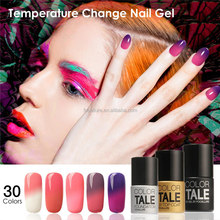 Colorful builder 30 colors soak off temperature color change uv gel polish with best price