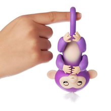 Hot sale Fingerlings monkey White With Pink Hair and is an Interactive finger Baby Monkey toys for kids