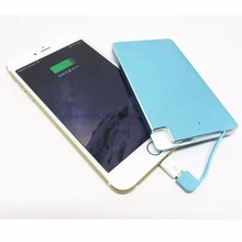 mobile phone power supply ultra slim credit card power bank 4000mah
